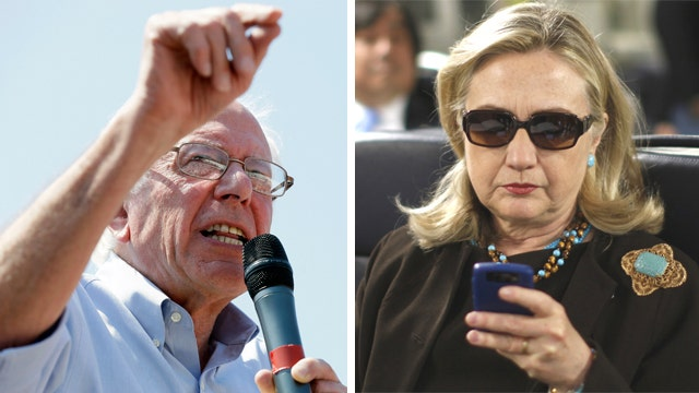 Clinton's email controversy gives opening for Sanders