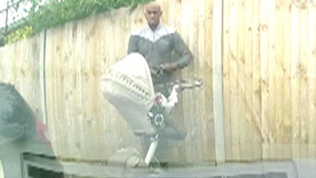 Caught on tape: Man with stroller keys Aston Martin