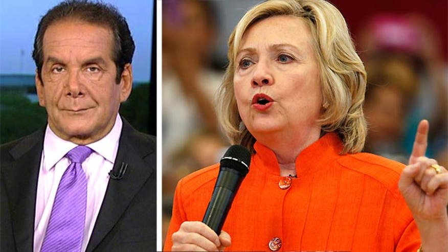 Charles Krauthammer says he's waiting for Hillary to use her standard scandal line