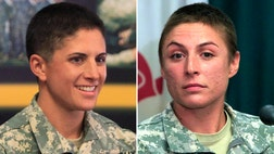 They are the first women to wear the prestigious Ranger tab.