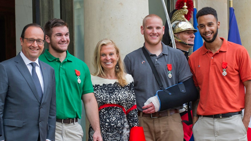 Spencer Stone, Alek Skarlatos, and Anthony Sadler awarded the Legion d'honneur, France's highest decoration