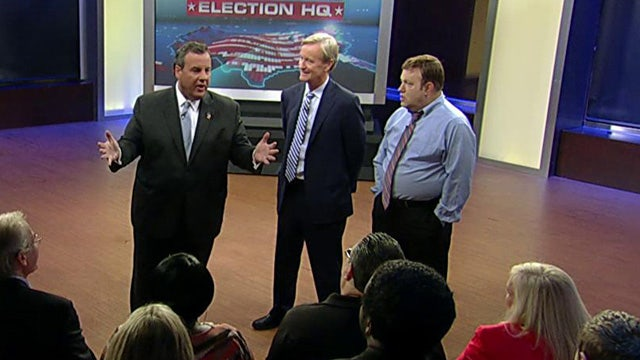 Chris Christie takes questions from a focus group