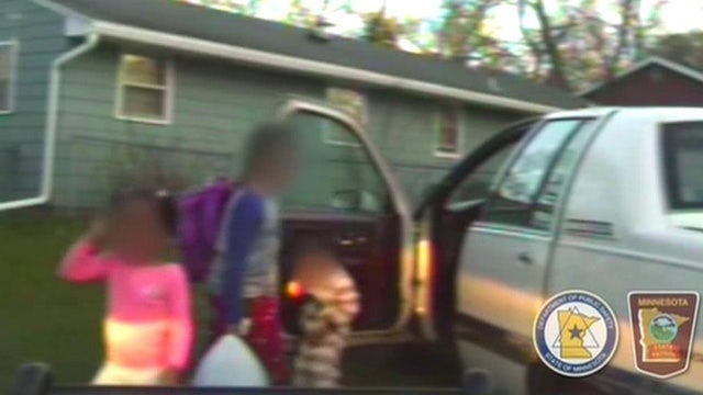 8-year-old boy takes his siblings for joy ride