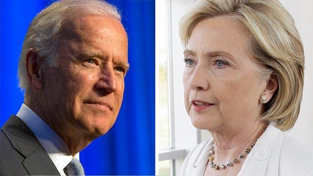 Joe Biden possibly challenging Hillary Clinton