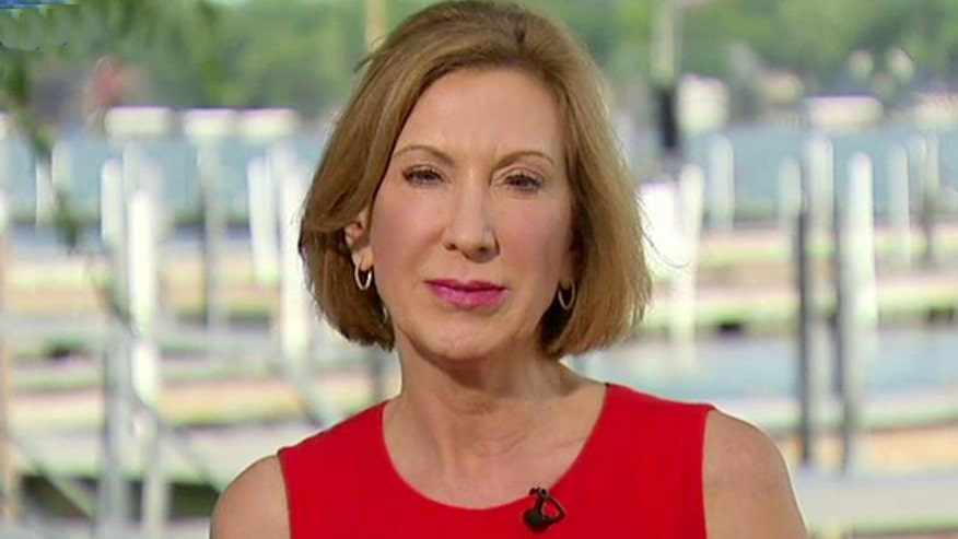 Despite surge following a breakthrough performance in the 'Happy Hour' GOP debate, the rules on CNN's platform may shut Carly Fiorina out of the main stage in the second Republican showdown