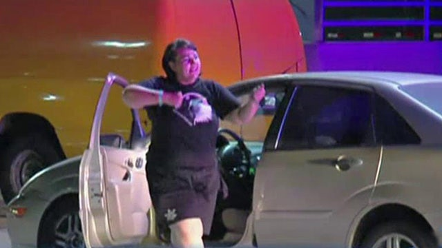 Suspected car thief dances after high-speed police chase