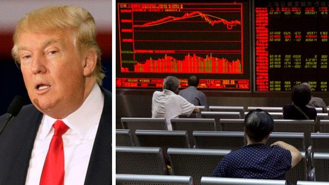 Donald Trump blames China for market mess