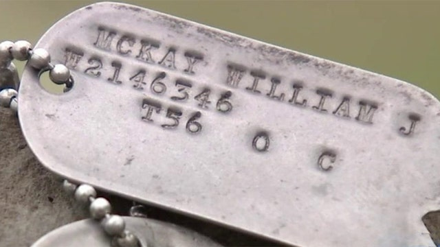 Veteran finds dog tags at recycling center