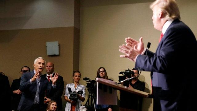 Univision anchor lectures Trump