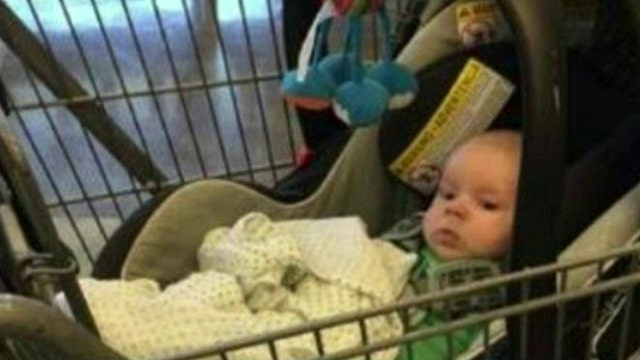Mom charged for leaving child in shopping cart