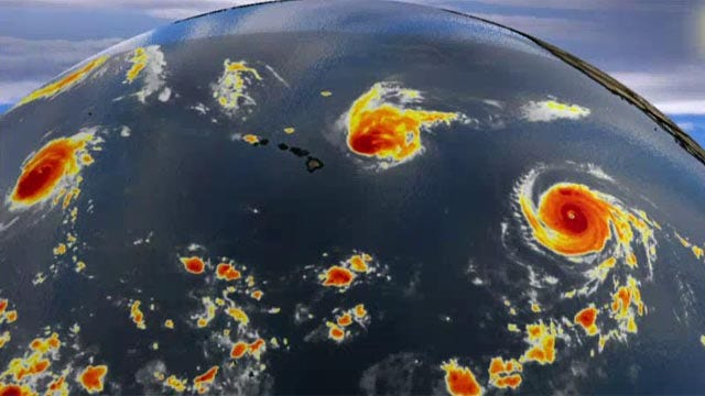 Hurricanes brewing in the Atlantic and Pacific oceans