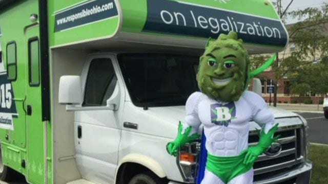 Pro-pot group under fire for 'kid-friendly' mascot