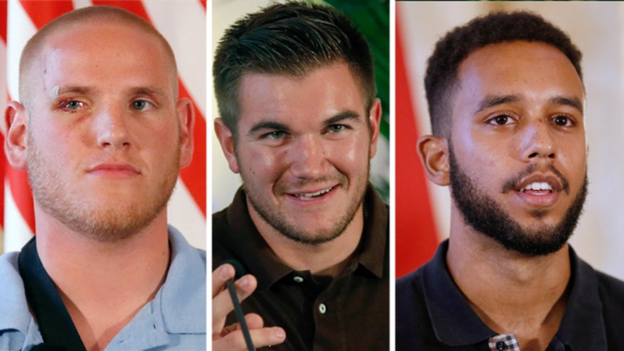 'Terror on the Tracks: An American Hero's Story': U.S. Airman Spencer Stone, National Guardsman Alek Skarlatos, and Anthony Sadler are longtime friends who shared a bond before the heroics aboard a Paris-bound train. #ProudAmerican