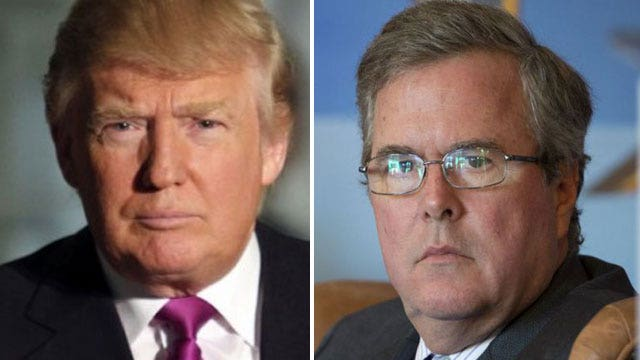 Donald Trump and Jeb Bush's war of words heats up