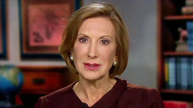 Fiorina: 'There's no question that I am among frontrunners'