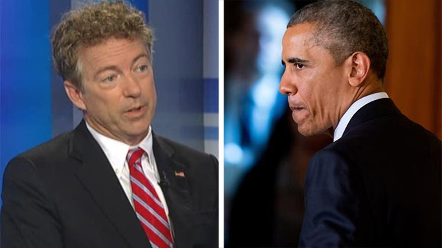 GOP presidential candidate Rand Paul sounds off on Pres. Obama appearing to now have enough support in Congress to fend off Republican efforts to reject his controversial Iran nuclear program deal