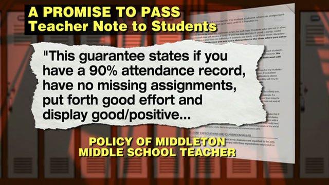 Teacher's no-fail policy under investigation