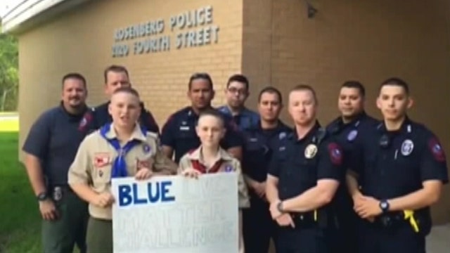 Boy Scouts start 'Blue Lives Matter' movement to honor cops