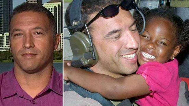 Air Force vet reunites with 'Katrina Girl' 10 years later