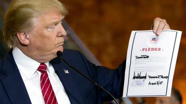 Can the GOP trust Trump's party loyalty pledge?