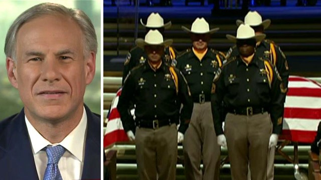 Texas governor notes 'remarkable' response to cop's murder