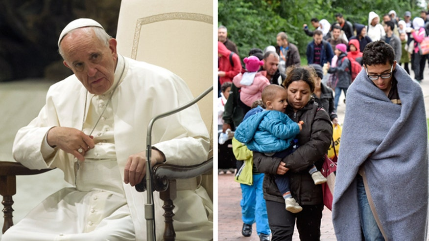 The Vatican has taken in refugee families, Pope encourages others in Europe to do the same