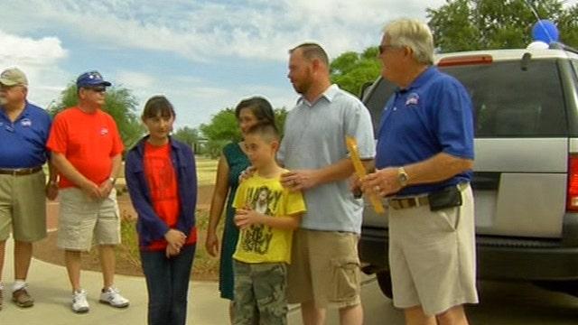 Veteran's family receives a new family car