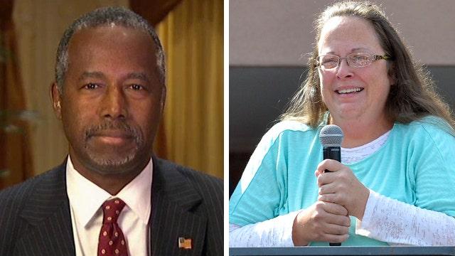 Dr. Ben Carson on Kim Davis case, surge in the polls