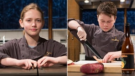 'Chopped Teen Tournament' competitors Peter Wenger and Eliza McKelvey discuss the intensity of cooking on camera