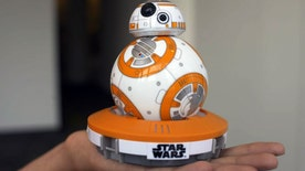 Four4Four SciTech: Awesome BB-8 droid; tiny millennium falcon drone, military 3-D printing, Pepper robot takes a beating