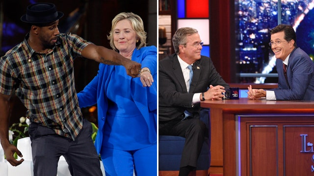 Hillary dances on Ellen; Jeb chats with Colbert