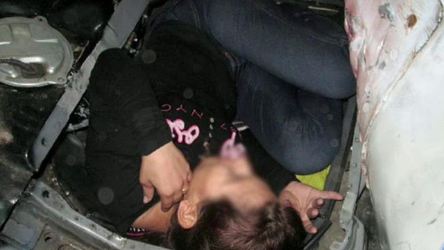 Illegal immigrant found hidden in car's gas tank
