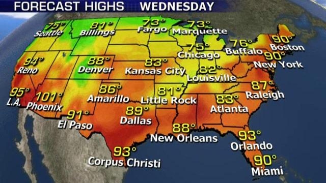 National forecast for Wednesday, September 9