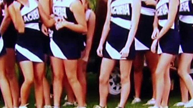 Cheerleaders told uniforms violate school's dress code