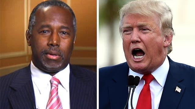 Donald Trump attacking Ben Carson over faith