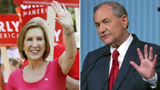Fiorina in, Gilmore out of upcoming GOP debate
