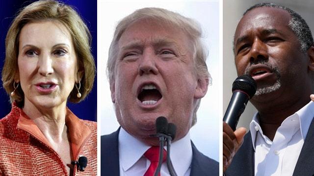 Donald Trump takes jabs at Carson, Fiorina