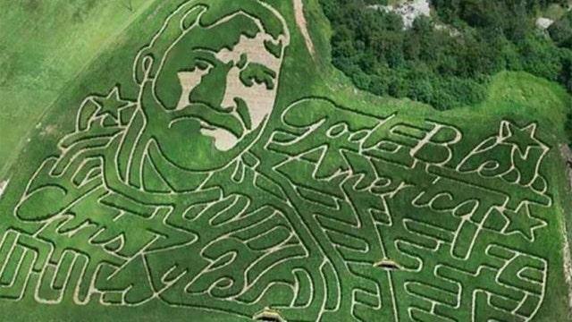 Corn maze honors 'American Sniper' Chris Kyle