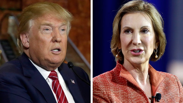 Donald Trump on leading the GOP field, Carly Fiorina remarks