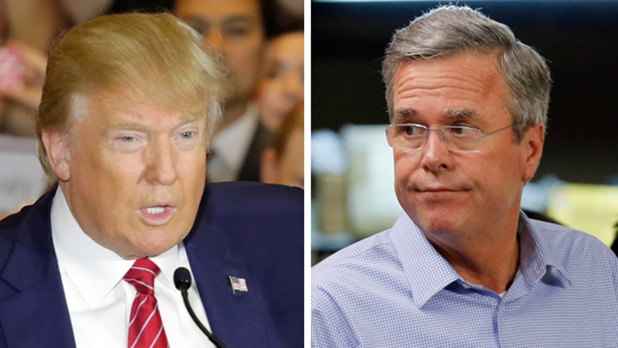 Jeb Bush at odds with Donald Trump