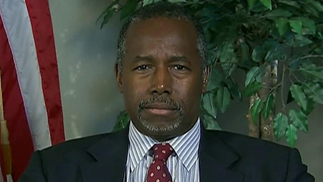 Carson's dust-up with Trump