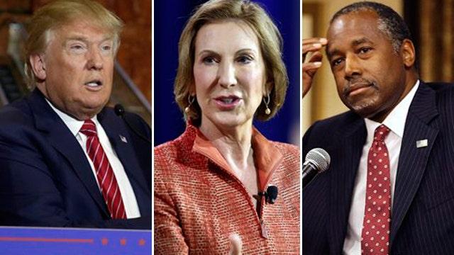 Trump takes jabs at Fiorina and Carson