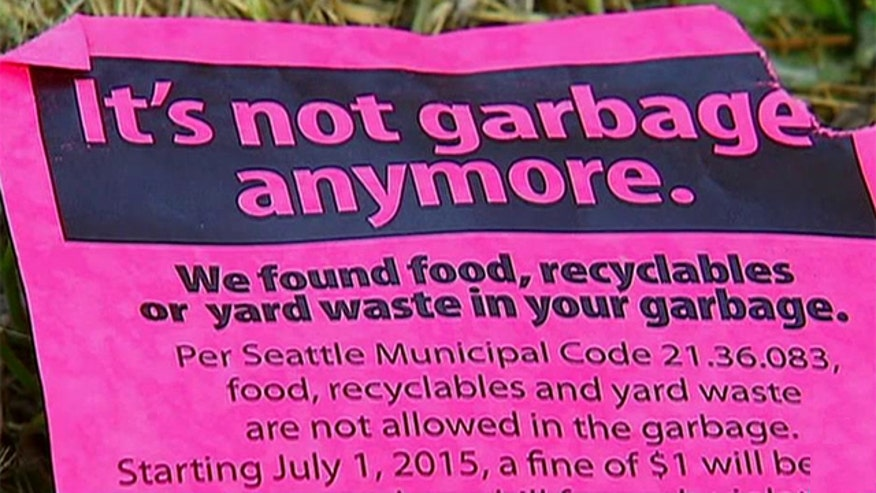 Policy allows trash collectors to check people's garbage to see if residents are recycling