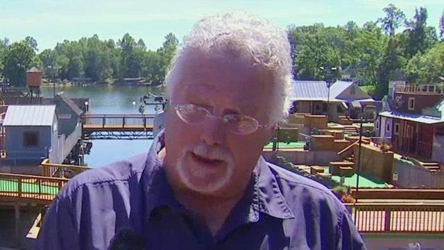 Husband of TV shooting survivor visits crime scene
