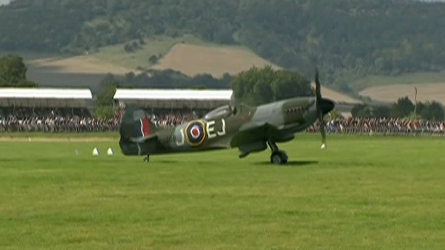 Raw video: Spitfires and Hurricanes assemble ahead of the largest flypast by the aircraft since 1945