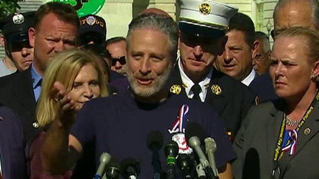 Jon Stewart leads rally in DC for renewal of 9/11 health act