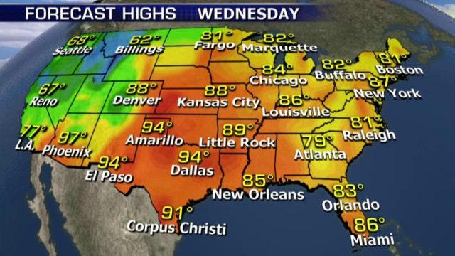 National forecast for Wednesday, September 16