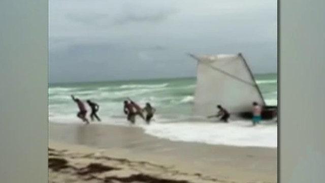 Family of Cuban immigrants wash ashore on Miami Beach