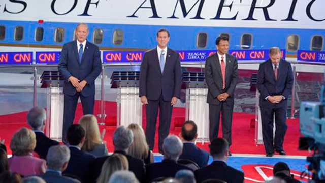 Who won the early GOP debate?