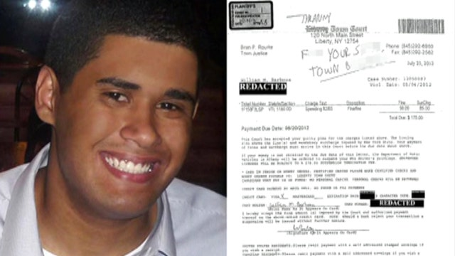 Judge backs man who wrote f-word on ticket